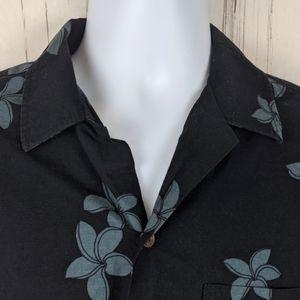RJC Size M Hawaiian Aloha Shirt Short Sleeve Black